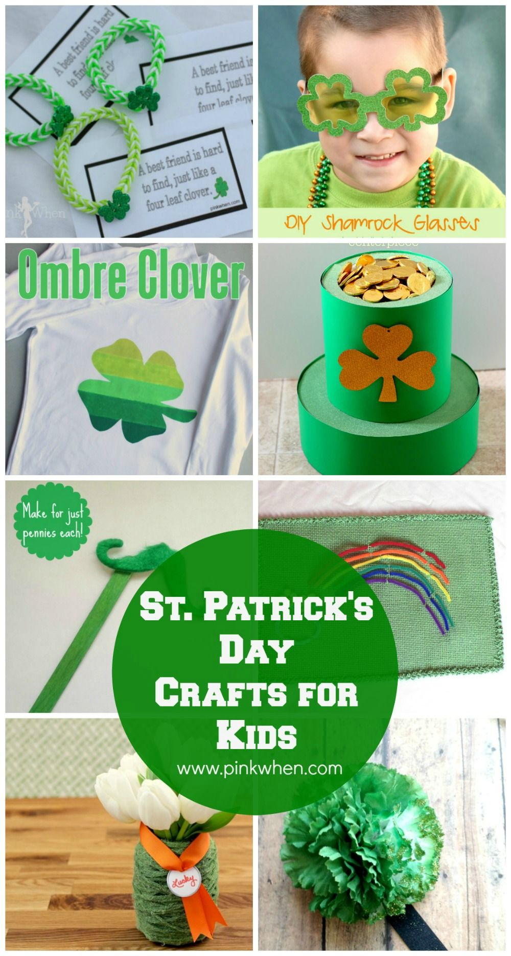 Super fun and easy St. Patrick's Day crafts for kids.