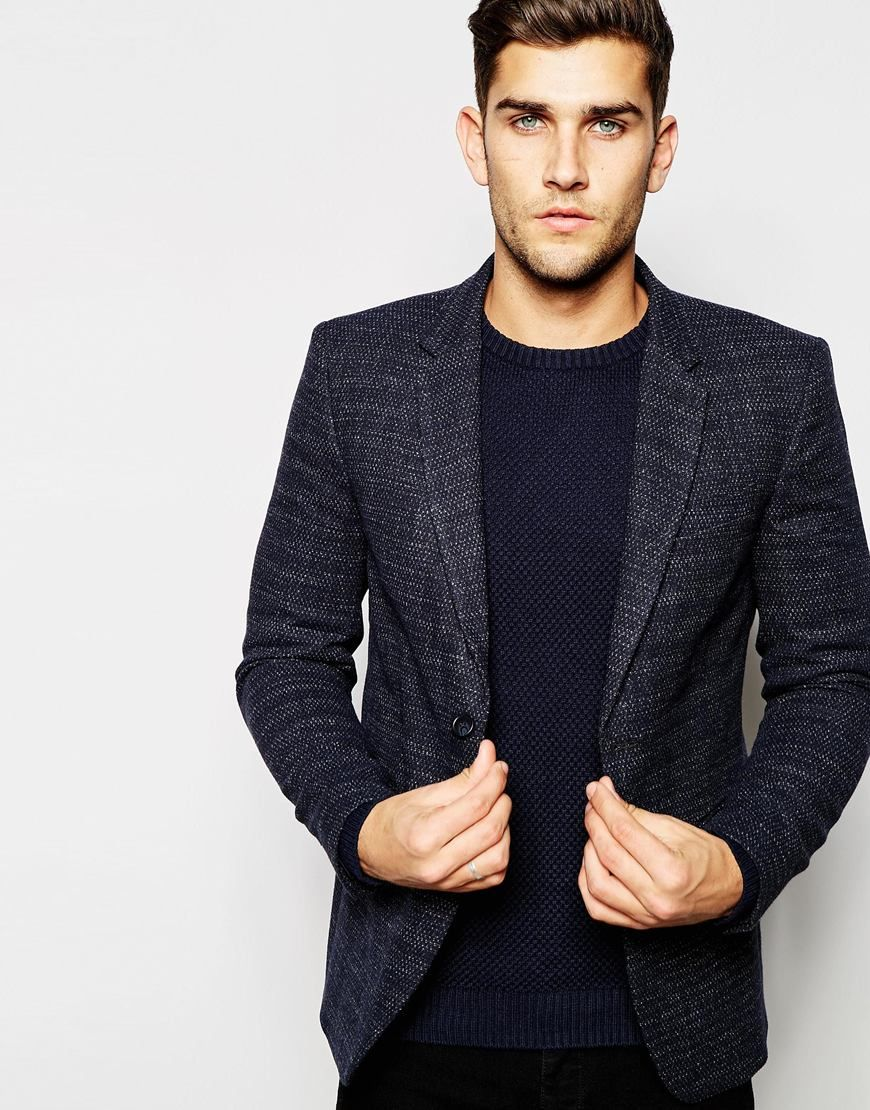2840e5e9c8 United Colors of Benetton Textured Wool Blazer in Slim Fit | Men's ...