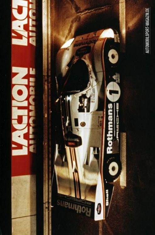 Le Mans 1986: Overall winner Rothmans-Porsche 962 C LH of Derek Bell, Hans-Joachim Stuck and Al Holbert
