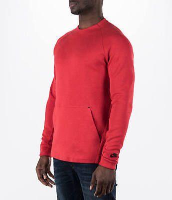 NWT NIKE Tech Fleece Crew Training Sweatshirt 805140 654 Red