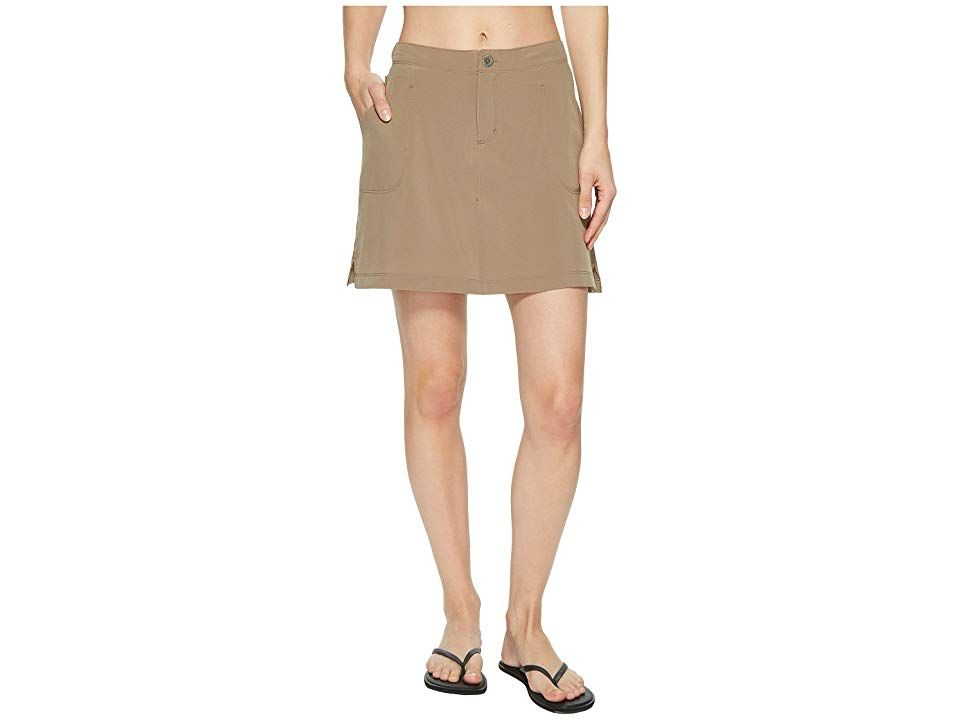 White Sierra West Loop Trail Skort Bark Womens Clothing Take a few steps outside of your comfort zone and trek along the mountain trails by keeping your cool in this West...