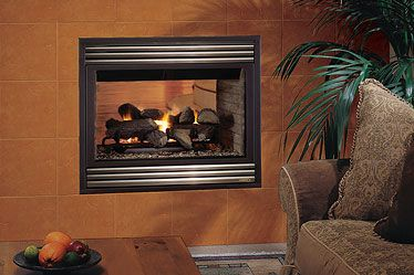 Lennox Mpd35st See Through Gas Fireplace Heats Up To 1 000 Square