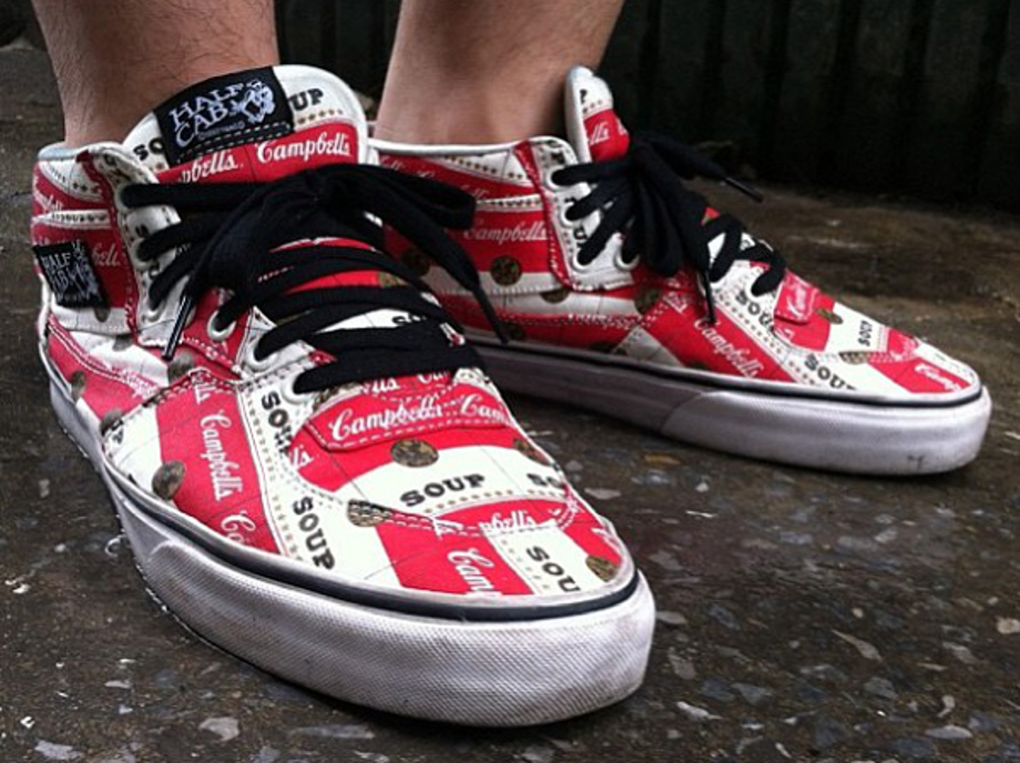supreme x vans authentic campbell's soup