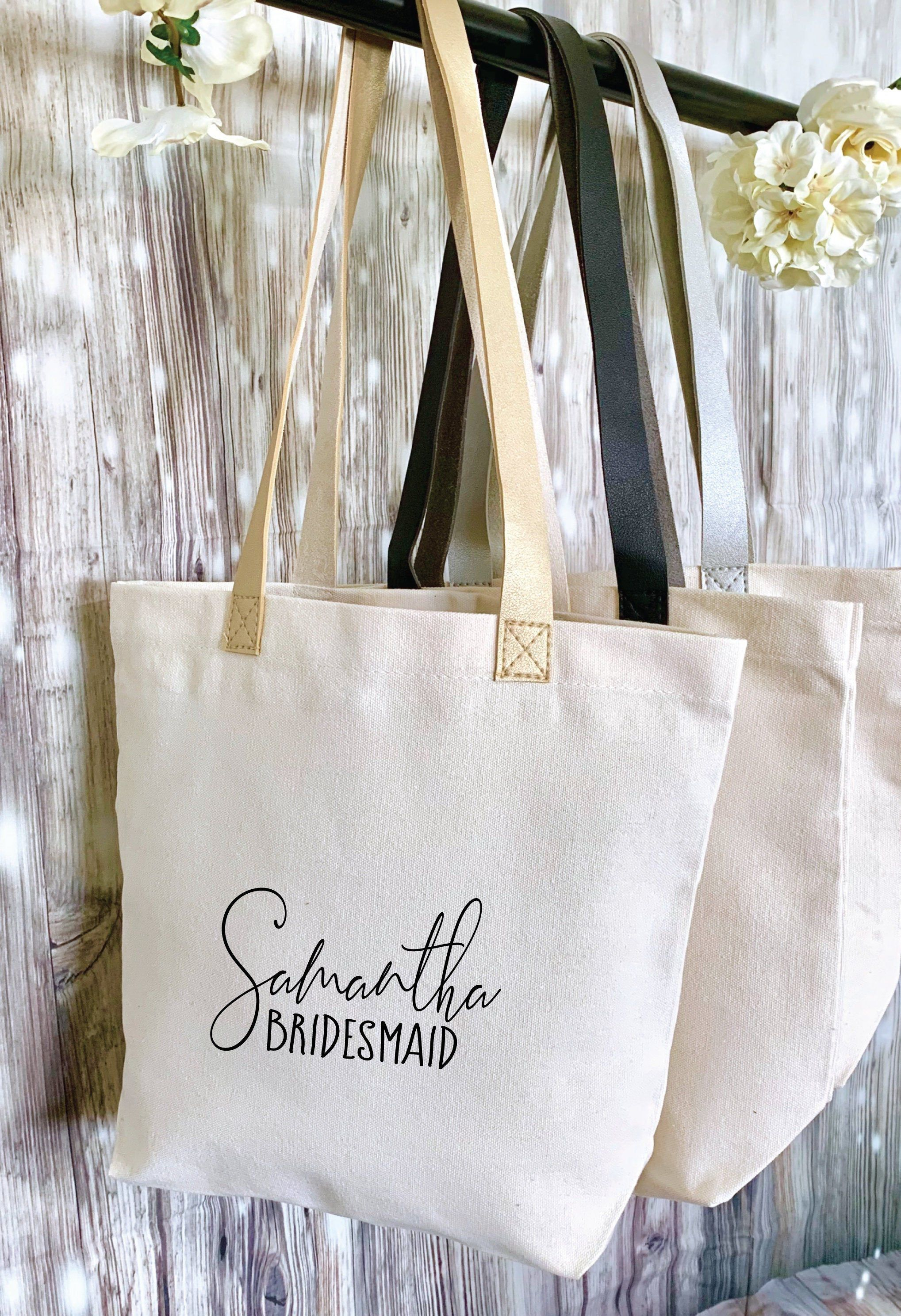 Personalized Tote Bag Personalized Totes Custom Tote Bags Personalized Bridesmaid Tote Bag