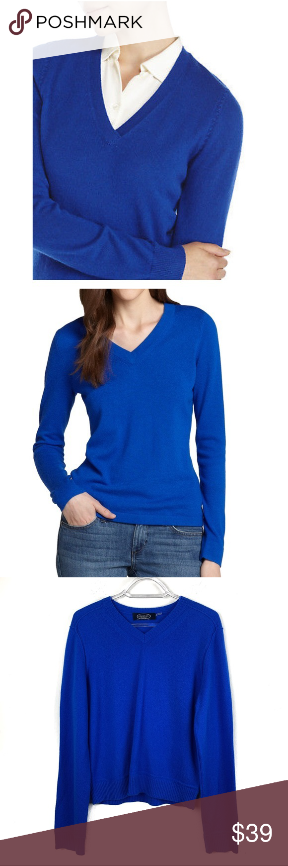 8c62aab2067cbb Magaschoni Cashmere Royal Blue Sweater L EUC - no piling. Perfect sweater