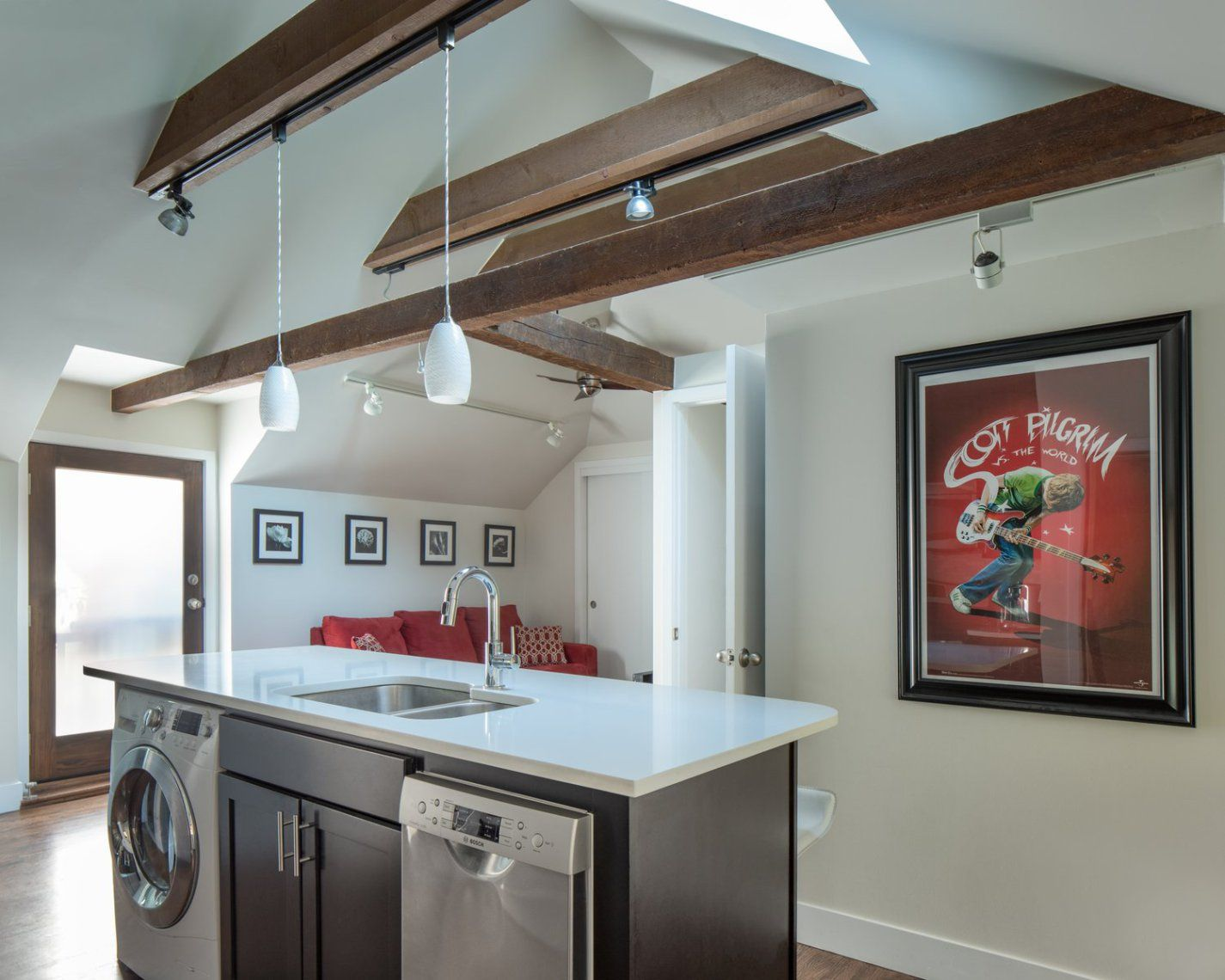 Capitol Hill Carriage House Basement House Kitchen Inspirations