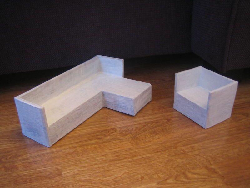 Quelques meubles poils de pinceaux barbie - Construire des meubles en carton ...