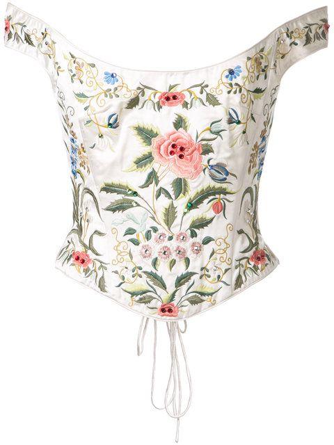e65a8560f6e95e Eavis & Brown off shoulder embroidered corset   Dresses in 2019 ...
