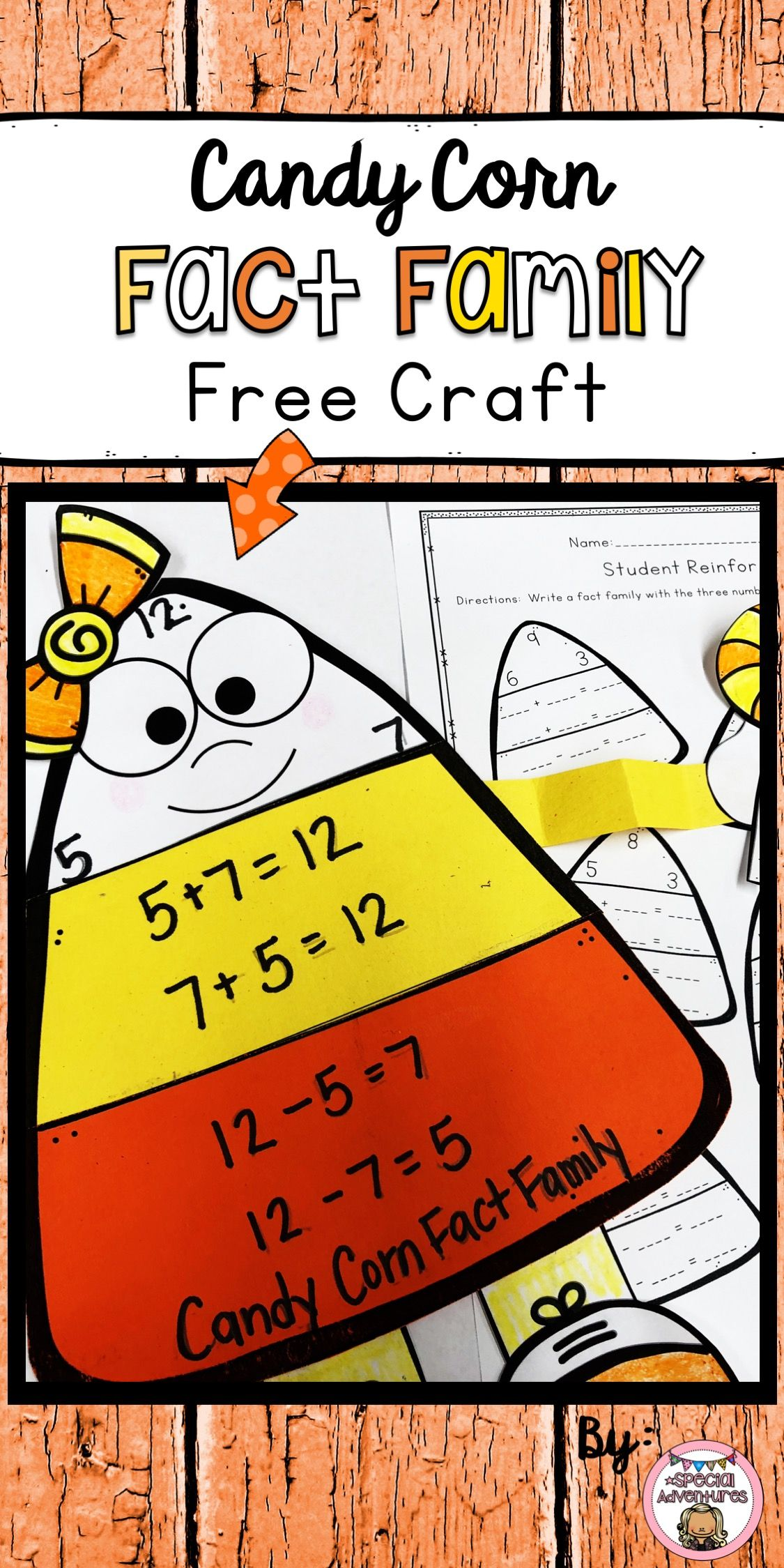 Fact Families Addition Subtraction Freebie
