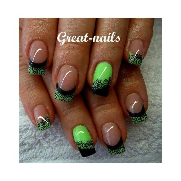 Pin by Nicole Dannenberg on Nails | Pinterest | Black white nails ...