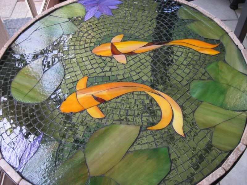beautiful Koi Mosaics Part - 15: Koi Mosaic Table Photo: This Photo was uploaded by tannalee. Find other Koi  Mosaic Table pictures and photos or upload your own with Photobucket free  im.