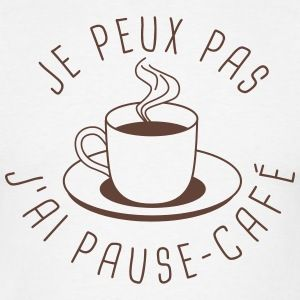 Je peux pas j 39 ai pause caf tee shirts t shirt homme for Art minimaliste citation