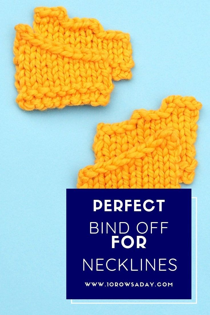 Sloped Bind Off  perfect bind off for necklines  10 rows a day