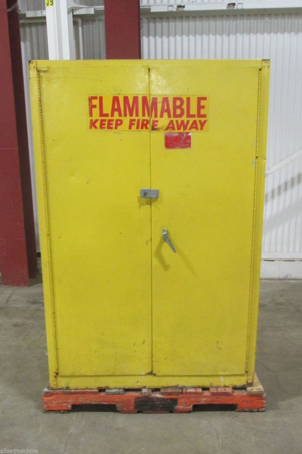 45 Gallon Fire Proof Storage Cabinet With 2 Shelves. __New Arrivals Daily! BROOK PARK OH 44142   WESTLAKE OH 44145. CLEVELAND OHIO AREA LOCATIONS. & Eagle Manufacturing Metal Storage Cabinet - Used - AM15480 ...