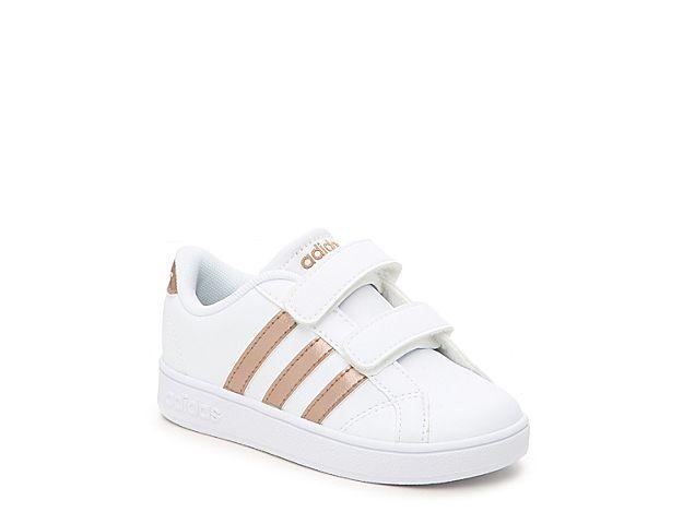 3b976f770fa Girls Baseline Infant   Toddler Sneaker -White Rose Gold Metallic in ...
