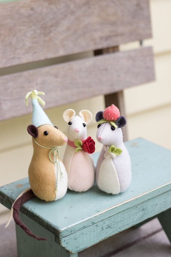 PDF Pattern - \'Pickle Mouse\' - Felt Mice Softies - Instant Digital ...