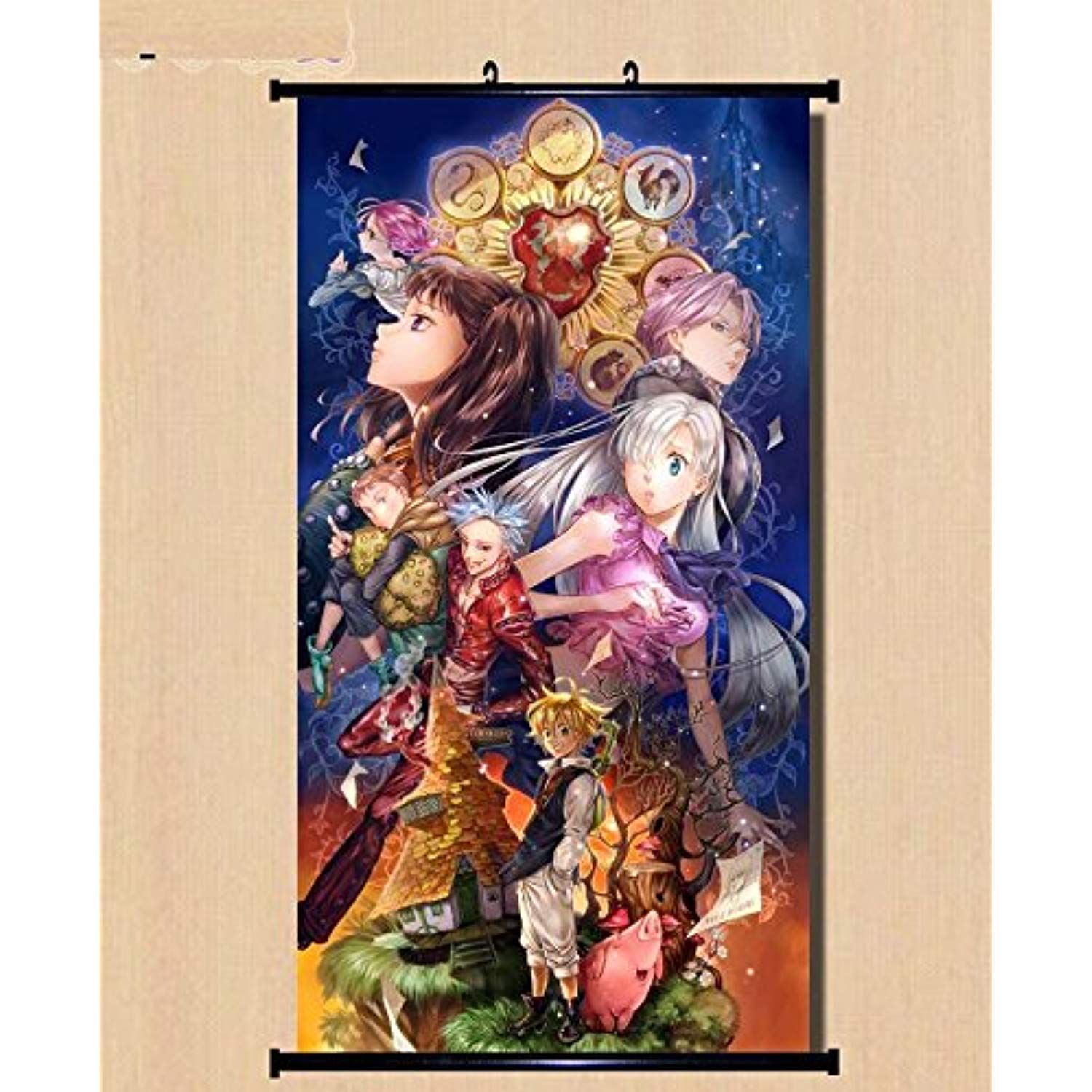 Home Decor Anime The Seven Deadly Sin Wall Scroll Poster
