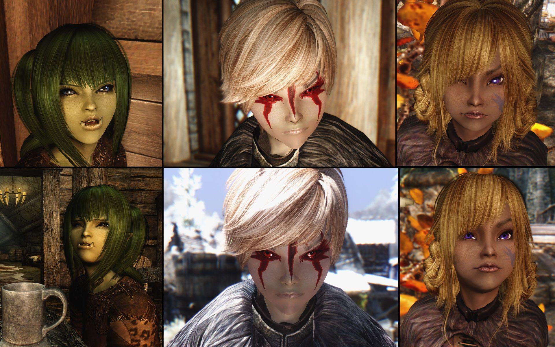 Orc, Dark Elf, Wood Elf child  Tokkimoon's More Adoptable