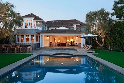 Huge Houses With Pools love the transition from house to pool with huge garage door