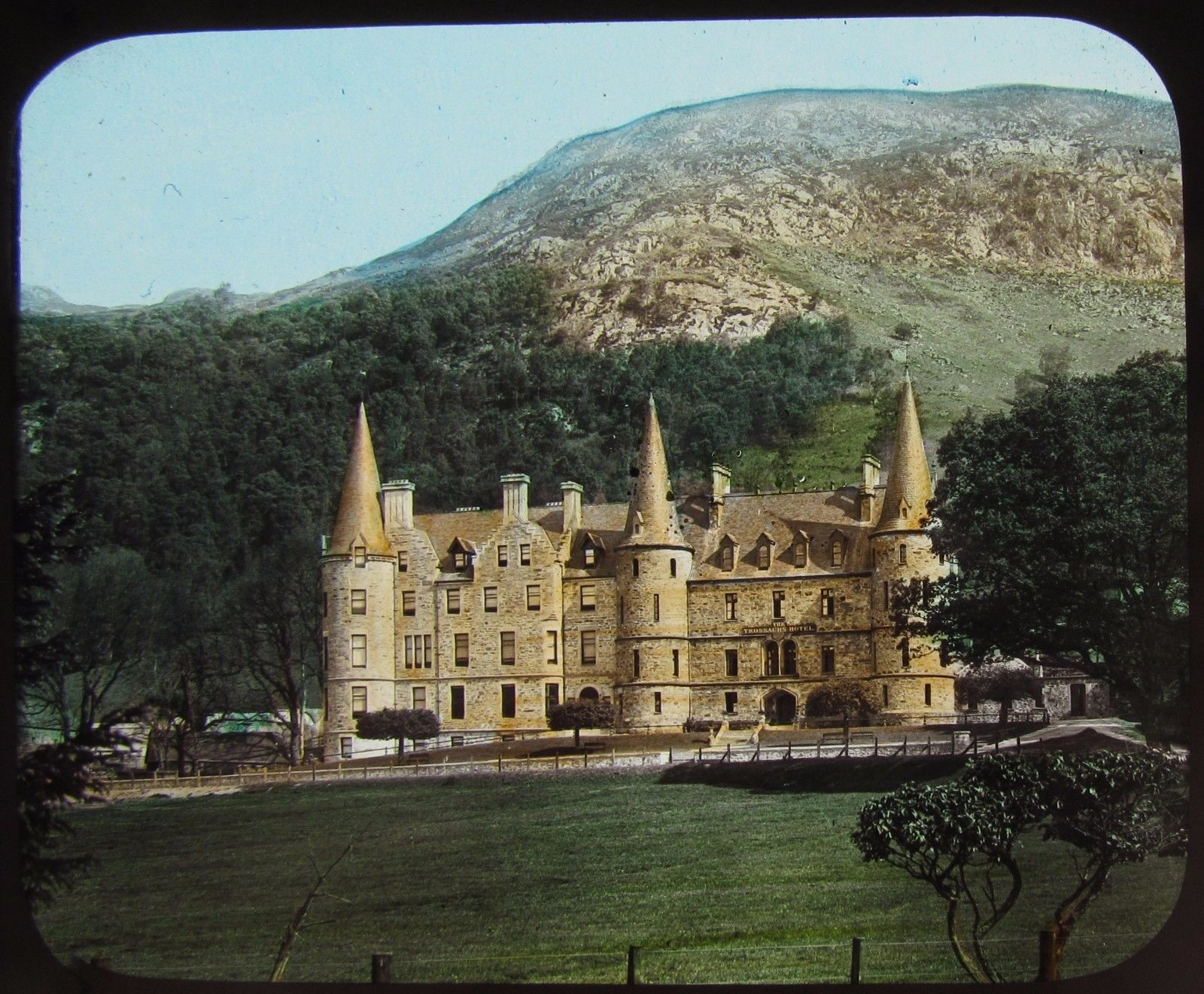 Gww Gl Magic Lantern Slide Trossachs Hotel C1890 Victorian Photo Scotland