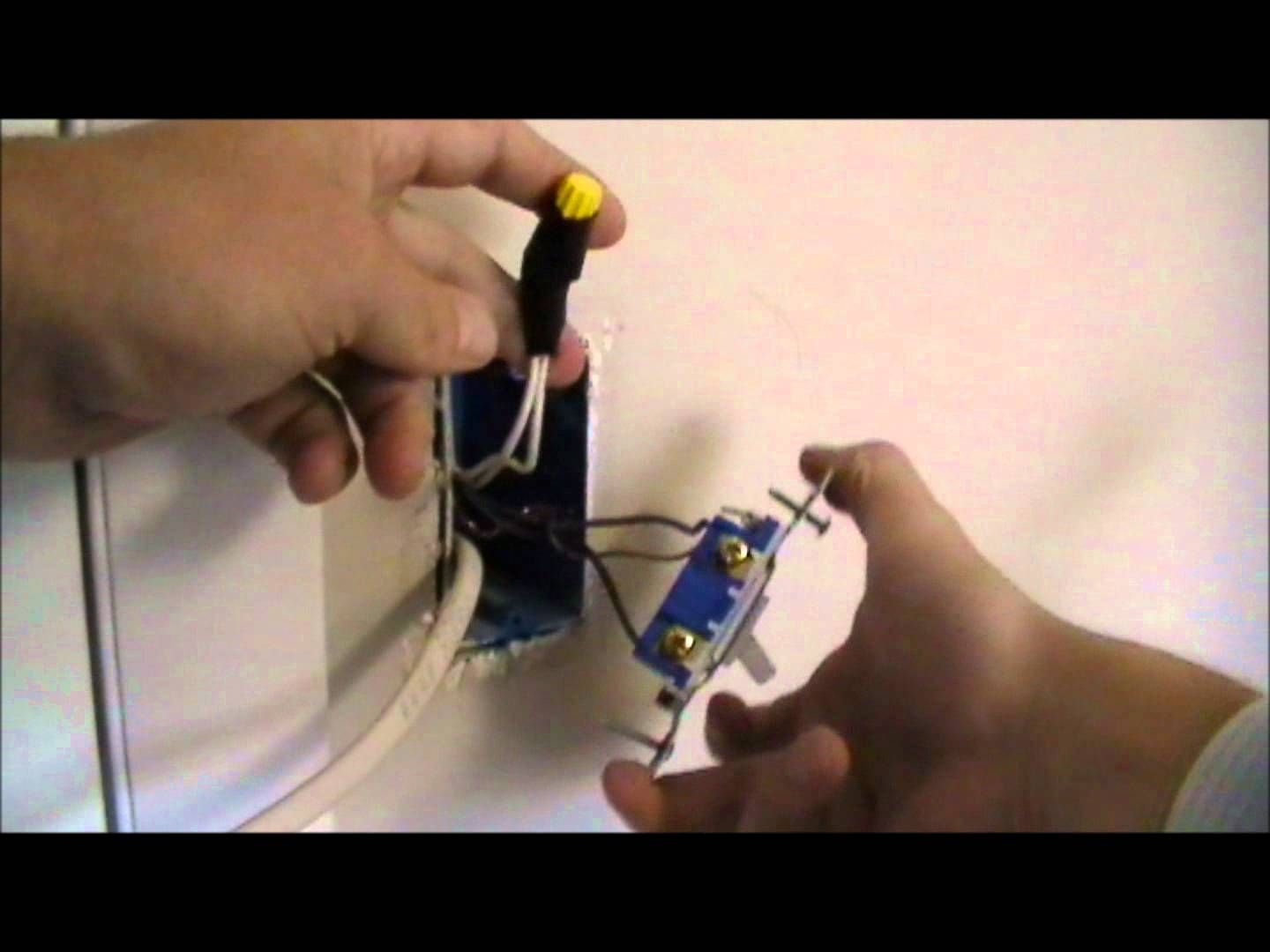 How To Fish A New Wire From Light Switch Down The Wall Wiring Household Outlet
