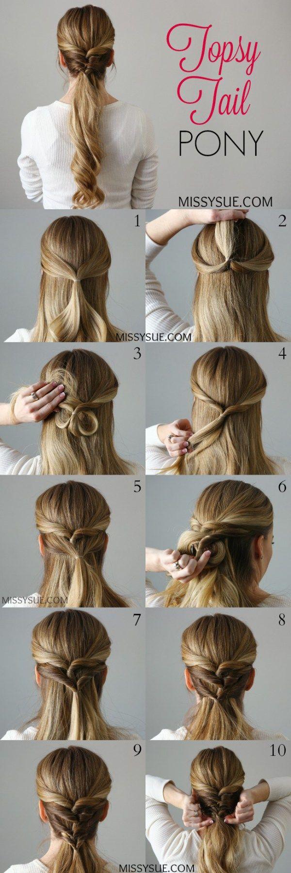Topsy tail pony more beauty u fashion pinterest pony hair
