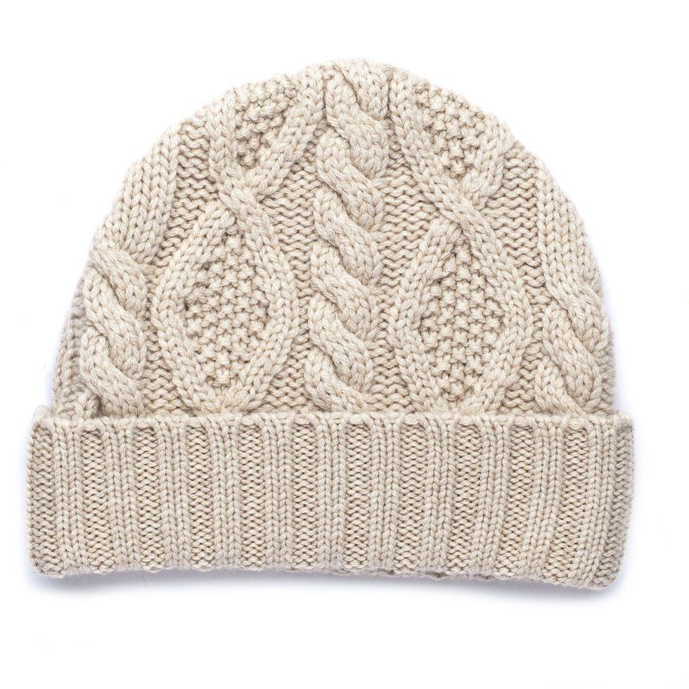 Aran Cable Cashmere Hat - Cream | knit. | Pinterest | Cashmere ...