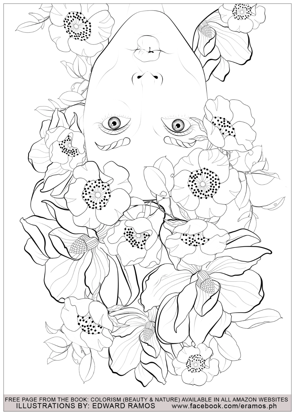 Illustration From The Book Colorism Beauty Nature By Edward Ramos 9 Cute Coloring Pages Antistress Coloring Coloring Pages Nature