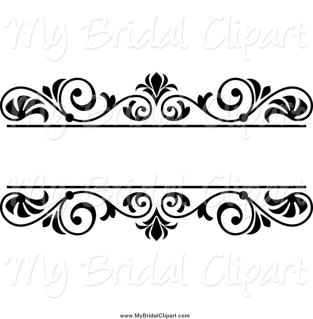 Wedding Flower Line Drawing : Wedding clip art black and white border cliparts