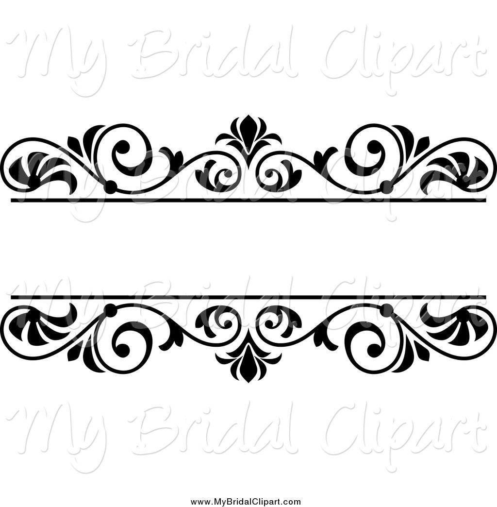 wedding clip art black and white border cliparts co [ 1024 x 1044 Pixel ]