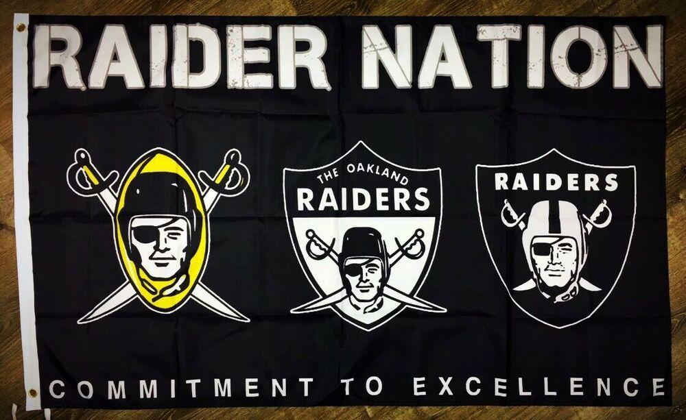 Oakland Raiders RAIDER NATION 3X5FT FLAG