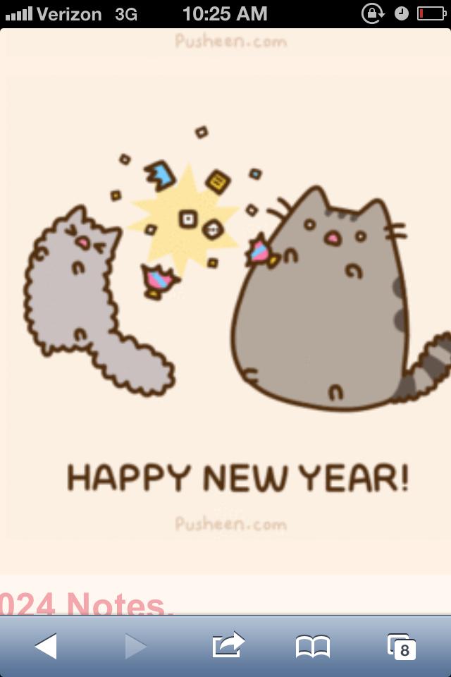 happy new year pusheen