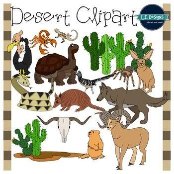 Desert Clipart {L.E. Designs} | Clip art, Deserts, Desert ...