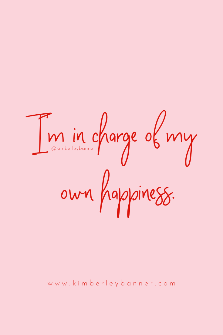 I M In Charge Of My Own Happiness Quote Pink And Red Girlboss Females In Business Entrepreneur Instagram Red Quotes Happy Quotes Instagram Words