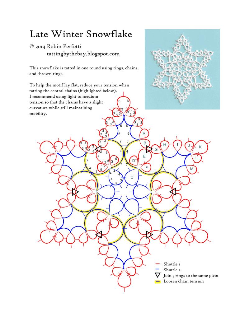 late winter snowflake pattern