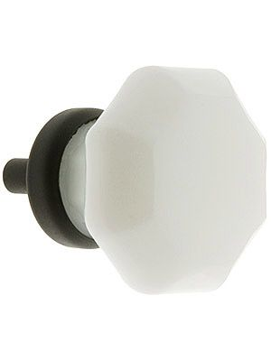 octagonal milk white glass know with oil rubbed bronze base these are exactly what i