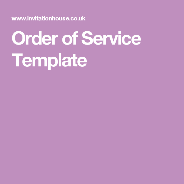 order of service template wedding order of service pinterest