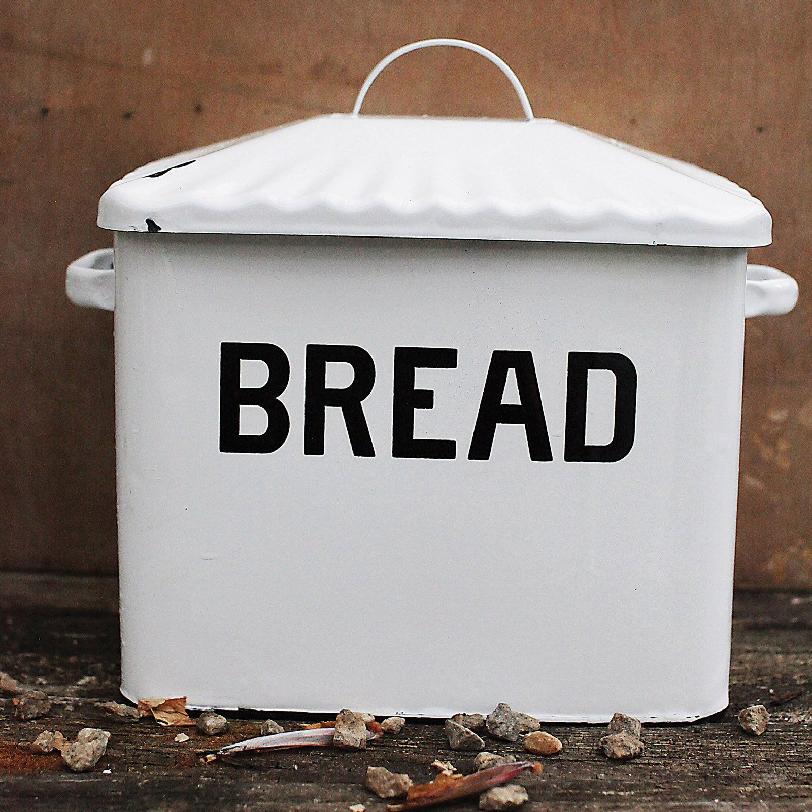 3r studios white decorative bread box primitive kitchen