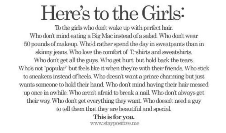 This is for the girls....