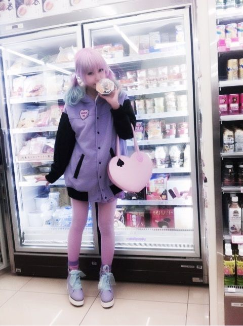 grocery shopping outfit love the colors! yu kimura