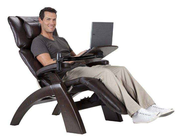 ... Make Your Human Touch Perfect Chair Experience Even More Perfect Is  Within Easy Reach. The Laptop Desk Attaches To The Perfect Chair Recliner  In Seconds ...