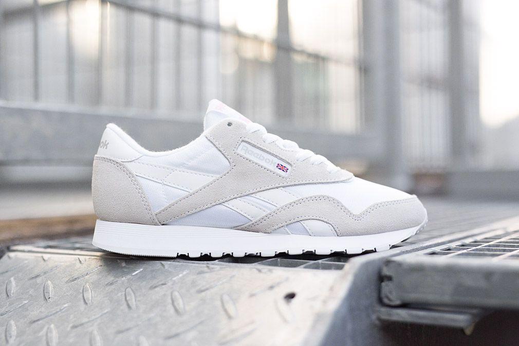 reebok classic white grey