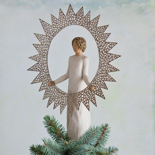 Willow Tree Starlight Tree Topper Willow Tree   www - outdoor angel christmas decorations