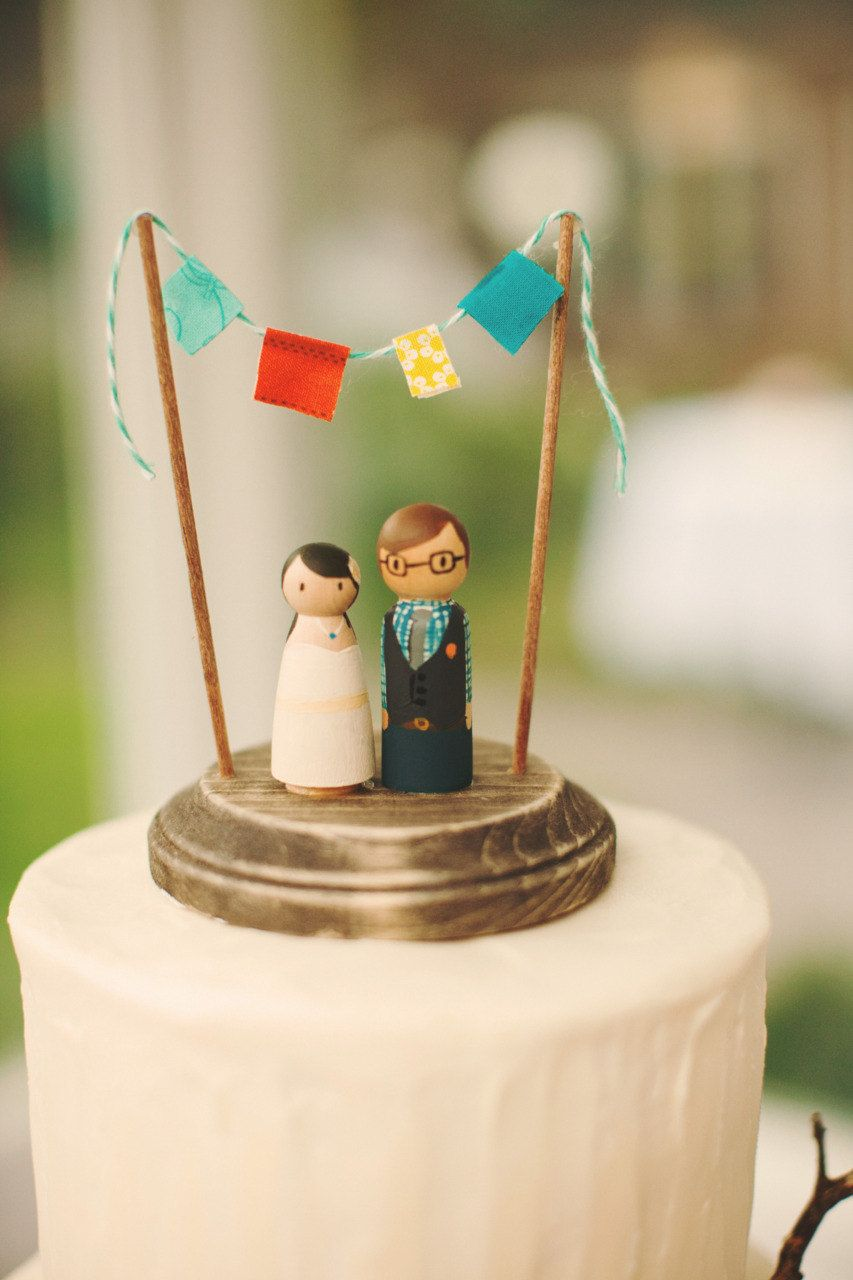 Rustic wedding cake topper wedding cake topper bride and groom