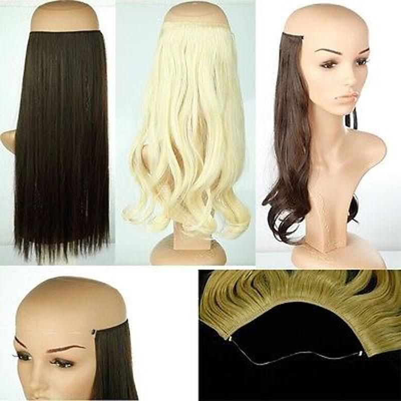 20 inches Invisible Wire No Clips Fish Line Hairpieces