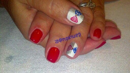 Forth of July nail art bows! Ig@noklue2