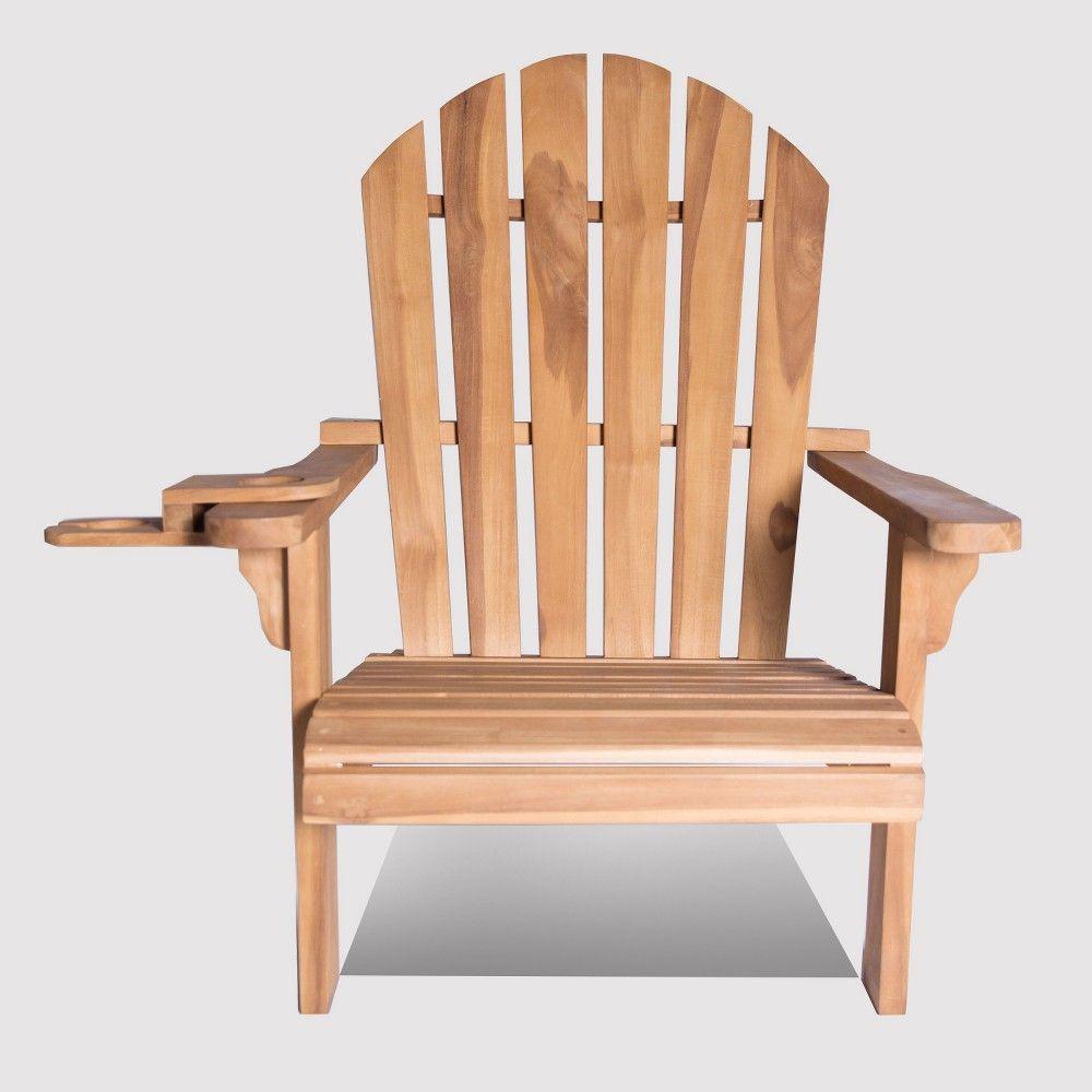 Redondo Teak (Brown) Wood Adirondack Chair with Wine