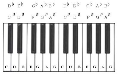 Letter Name For The Black Keys On The Piano Keyboard With Images