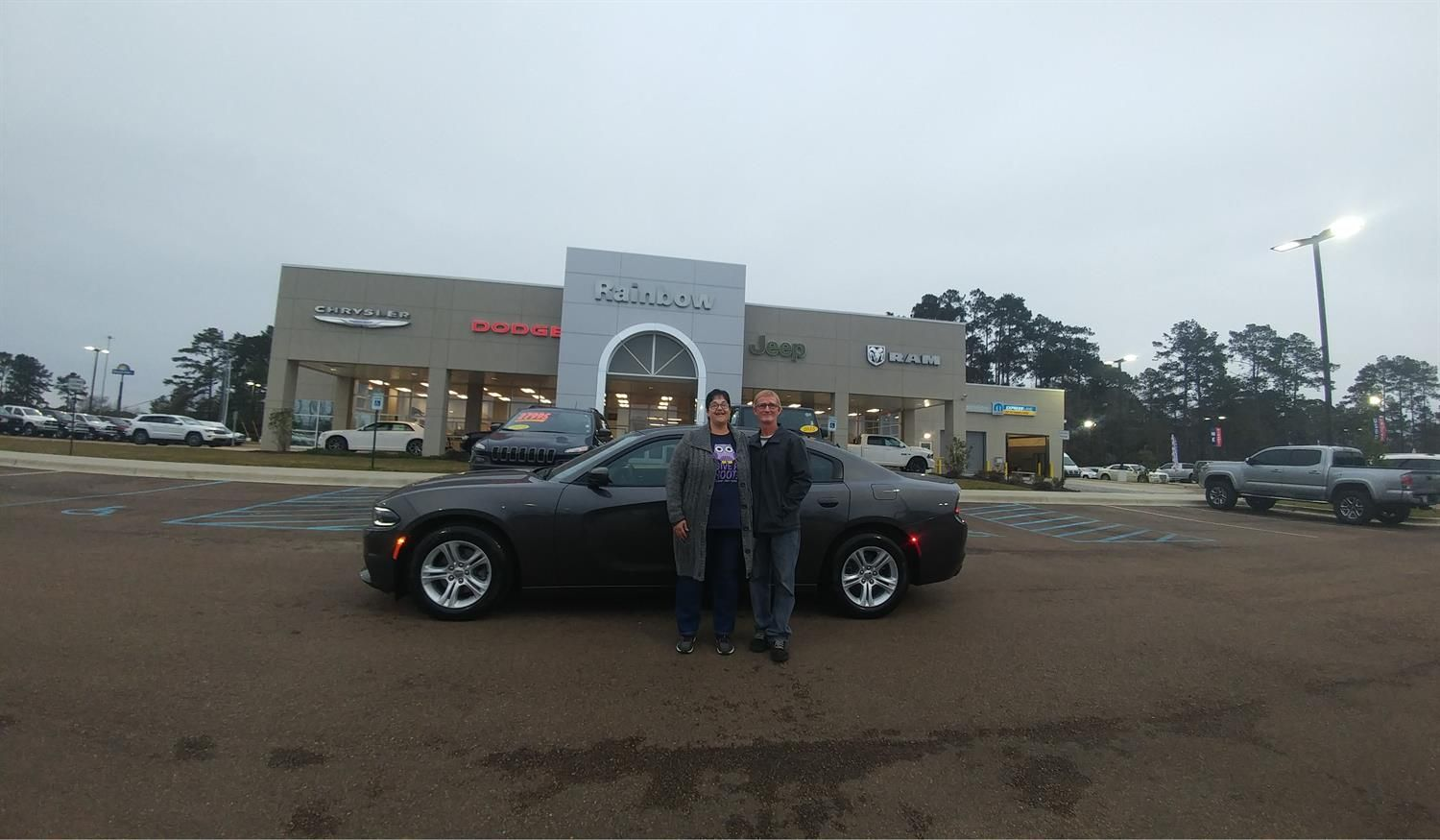 Rhonda and Myron's new 2018 DODGE CHARGER! Congratulations and best