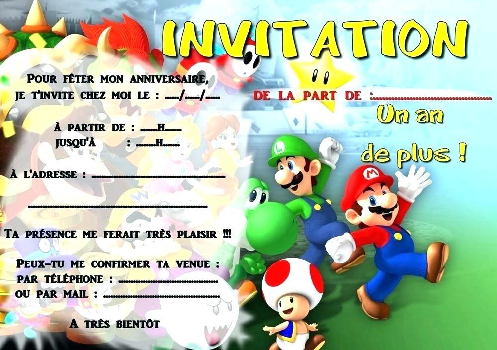 carte d anniversaire invitation mario